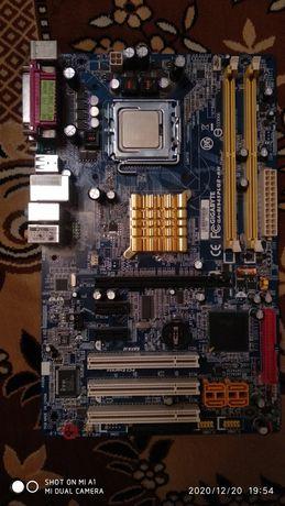 Материнская плата GIGABYTE GA-8I945PLGE-RH + Intel Pentium 805