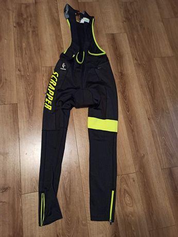Spodnie kolarskie francuskiej firmy Scrapper ultimate. Grubsze termo