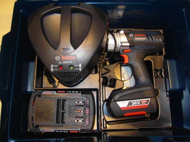 Wiertarko-wkrętarka udarowa Bosch GSB 36 VE-2-LI 2x2,0Ah L-boxx GWARAN
