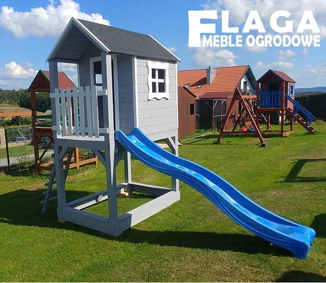 Plac zabaw, domek dla dzieci ze zjeżdżalnia PRODUCENT