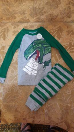Детская пижама с динозаврами животными