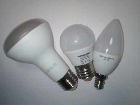 Лампы LED, энергосберегающие (люм. компакт.), галогенные