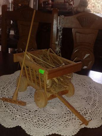 Wózek drewniany - dla lalek (nr. 93)