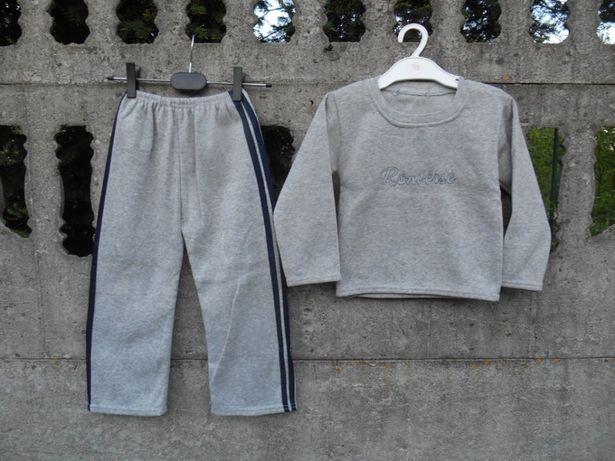 Dresowy Komplet 98 na 3 latka Spodnie i bluza