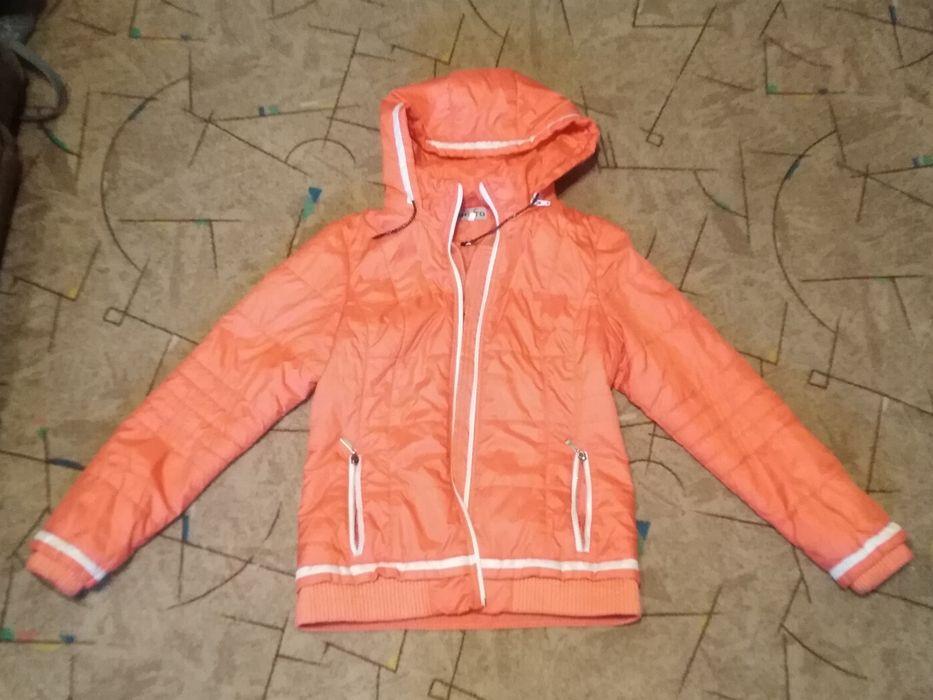 Куртка болоньевая оранжевая Каменское - изображение 1