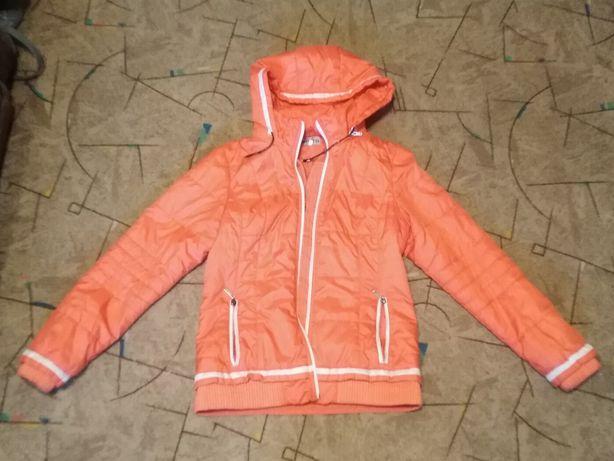 Куртка болоньевая оранжевая