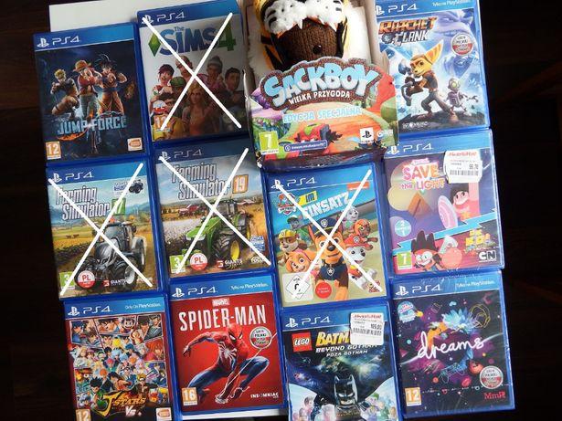 GRY PS4 SACKBOY Wielka Przygoda RATCHET Farming LEGO Batman Psi Patrol