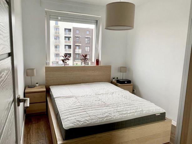 Łóżko malm z 4 szufladami, 2 szafki nocne + gratis