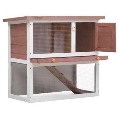 Coelheira de exterior 1 porta madeira castanho **envio grátis**