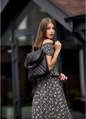 Лучший повседневный рюкзак для подростков черный Sambag Loft женский