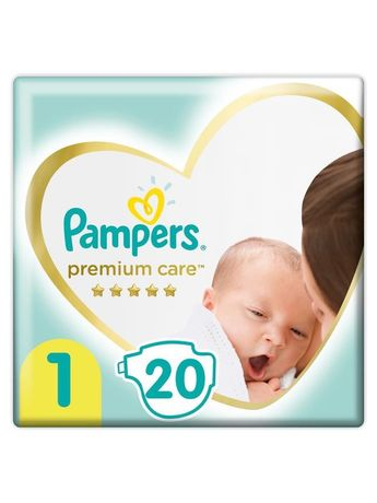 Pampers premium care 1, 120 шт