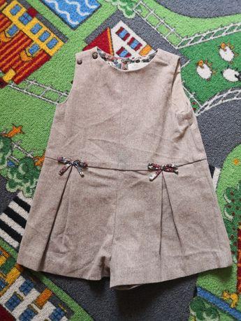 Kombinezon krótkie spodnie spodenki ZARA Baby Girl 80 zima wiosna