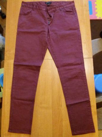 Spodnie damskie bordowe Mango 40