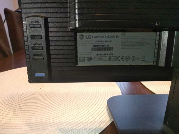 "Monitor firmy LG 19"" LCD"