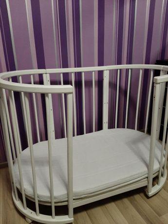 Детская круглая кровать 7в1 Б/у
