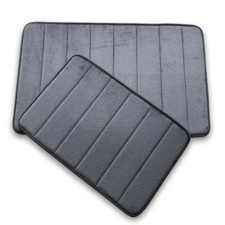 Набор ковриков для ванной  2 шт (50х80 см и 40х60 см) Графит