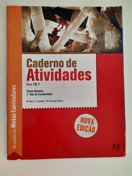 Físico-química 7ºano Caderno Atividades 'Novo FQ 7', Asa, Nova Edição