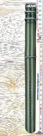 Pasek do zegarka 22mm militarny zielony fied Seiko Casio
