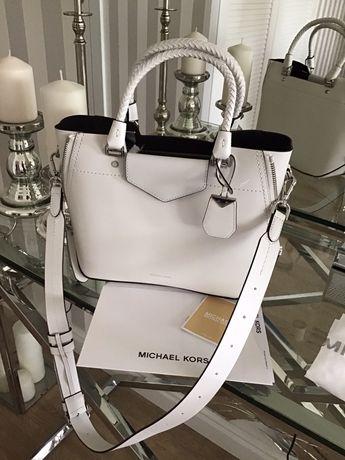 Torebka Michael Kors Blakely Leather Satchel Optic White