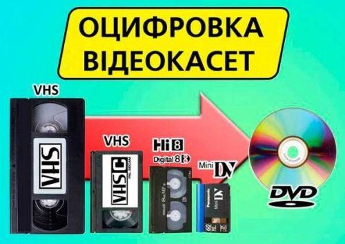 Оцифровка відеокасет VHS, Video8, Hi8, MiniDV