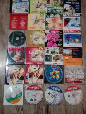 Płyty CD  lektury szkolne,kwiaty,atlas,świata