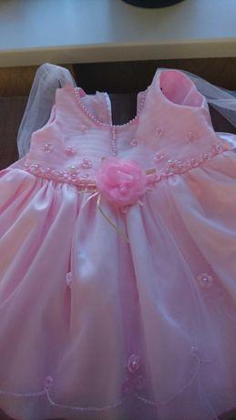 Нарядное праздничное пышное платье на 1-2 года