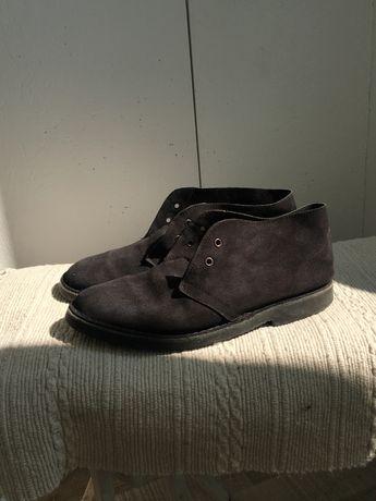 Замшевые туфли 43/44 размер