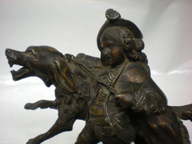 Piękna Duża Figura Chłopca syg.BREVET 19 w.