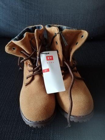 Botas de criança n 31