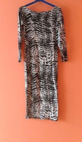 Okazja!!! Długa ładna sukieneczka w panterkę rozmiar M