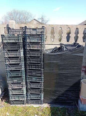 Skrzynki plastikowe używane 40x30x20cm