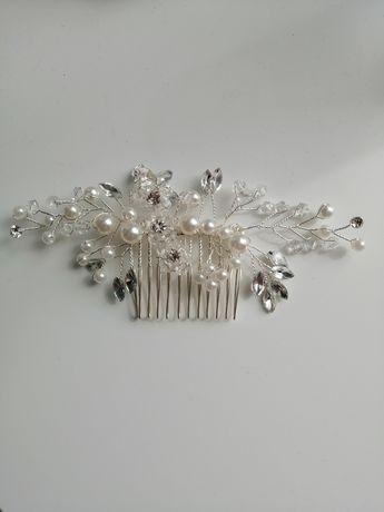 Spinka, biżuteria, ozdoba ślubna do włosów