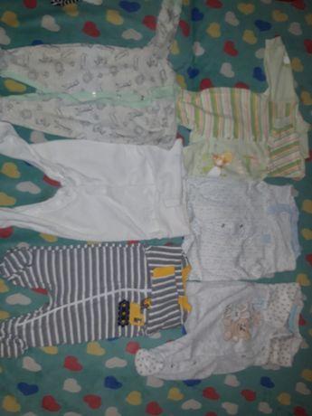 Ubranka niemowlęce rozmiar 56. 10 sztuk