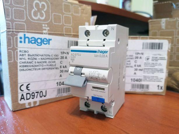 Дифференциальный Автомат Hager AD970J
