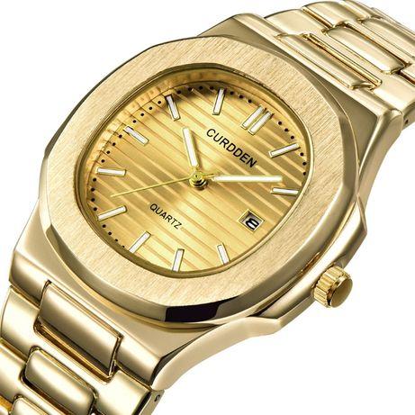 Męski zegarek na bransolecie kolor złoty gold
