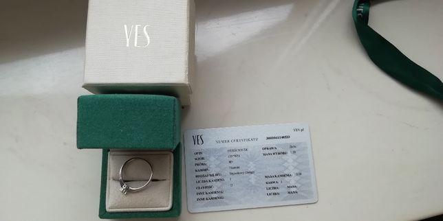 Sprzedam pierścionek zaręczynowy marki YES-okazja!!