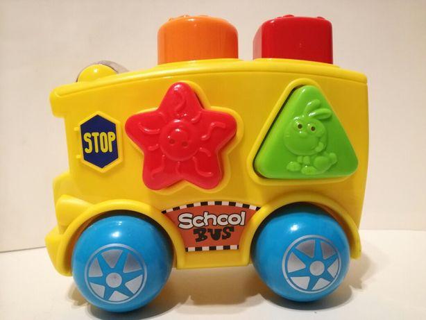 Samochodzik ukladanka kształty zabawka