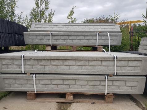 Podmurówka pod siatkę/panel ogrodzeniowy wzór kamień prasowana!