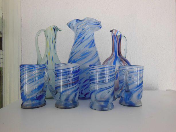 Кувшины,вазы Гутное стекло СССР
