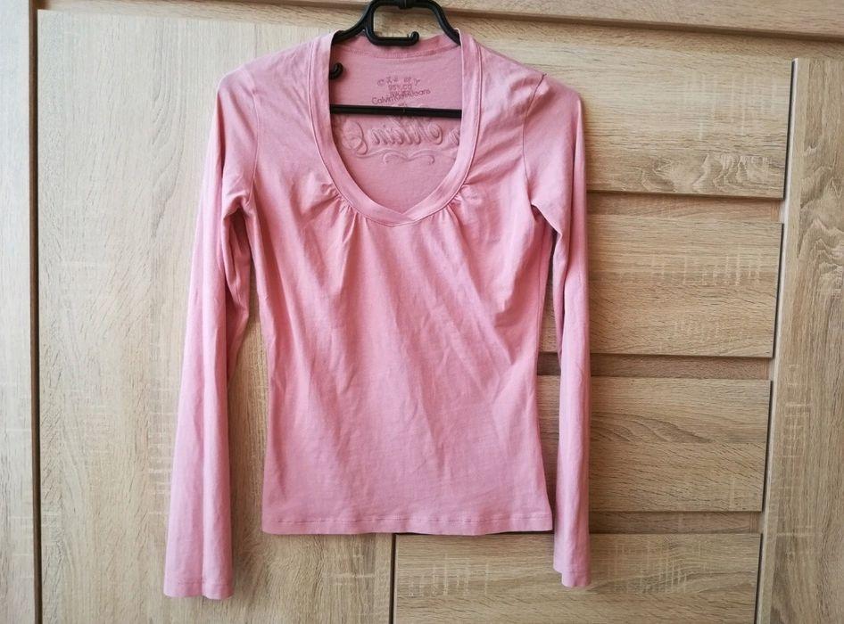 Różowa bluzka Calvin Klein Jeans z napisem na plecach Kraków - image 1
