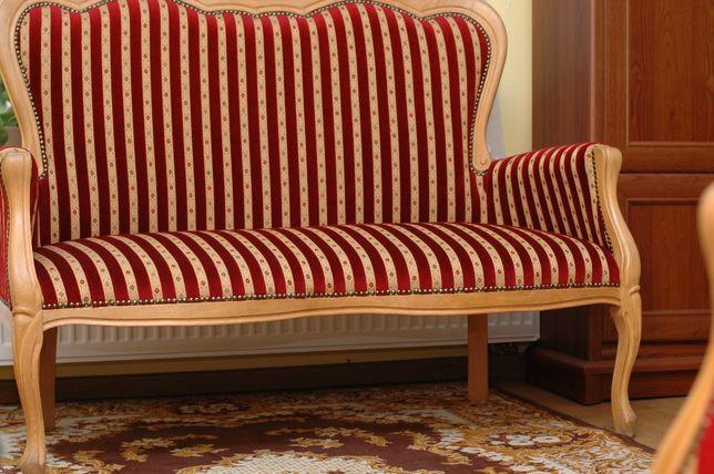 Kanapa i 2 fotele (stylowe meble do gabinetu)
