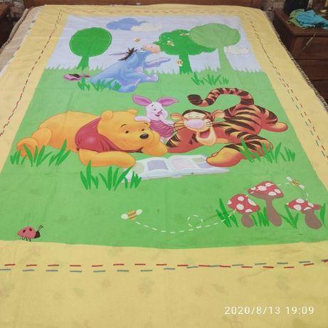 Capa para Edredão e Fronha para Almofada Winie The Pooh