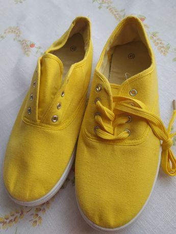 żółte tenisówki, r. 40