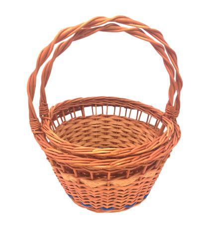 Koszyk świąteczny, Wielkanocny, unikatowy 2 szt. z niebieskim