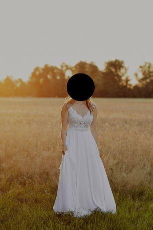 Przepiękna suknia ślubna! Prosta, a zarazem elegancka!