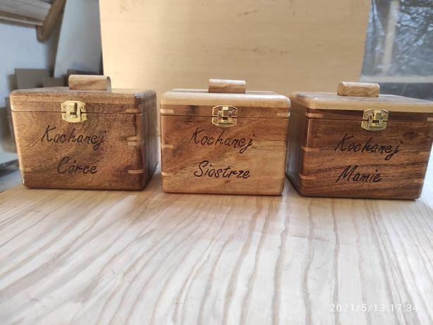 Szkatułki drewniane
