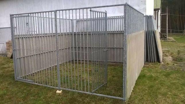 Kojec dla psa o wymiarach 3m × 3m, wysokość 1,8m