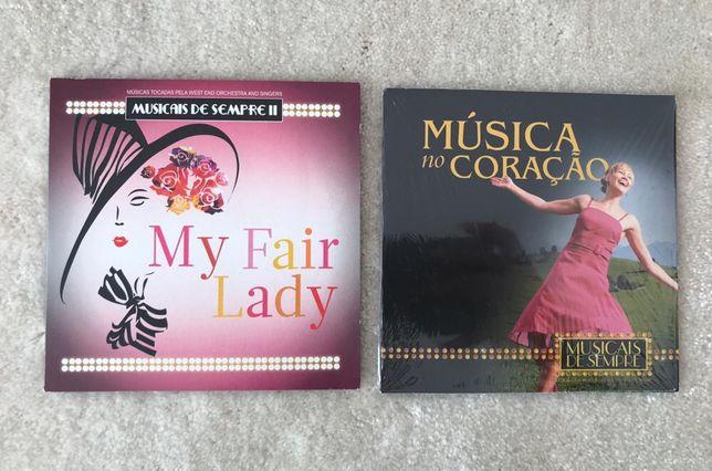 CDs my fair lady e música no coração