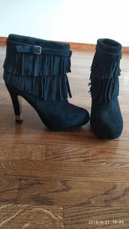 Ботинки, сапоги, черевики жіночі замшеві