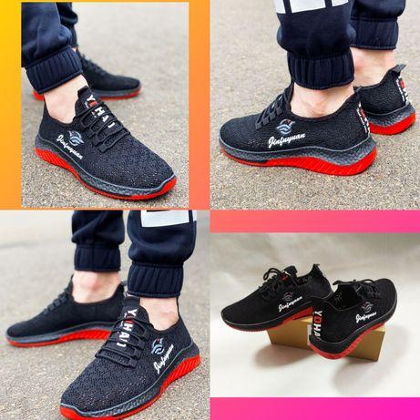 Обувь Кроссовки Мужские Черные Летние Взуття Кросівки Чоловічі Літні